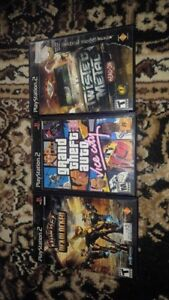 GTA Vice City, Ratchet Deadlocked, Twisted Metal Head-On for PS2
