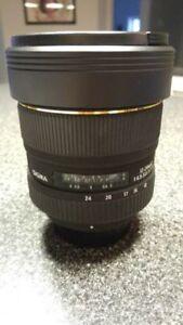 Sigma 12-24mm D F/4.5-5.6 EX DG HSM Nikon Lens