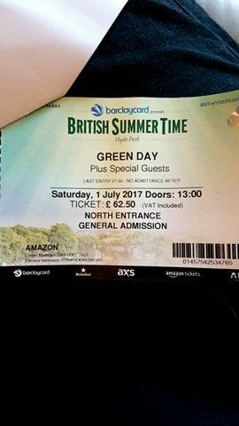 Green Day tickets X 2July 1st, Hyde Park, Londonin Pudsey, West YorkshireGumtree - Unfortunately we cant attend so would like to sell these for less than what we paid for them. You can collect in person (Leeds area) or we will post the same day with tracking and you will sign for the item...this would be £3 on top of the price