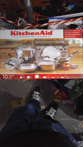 Brand new unopened pots and pans set