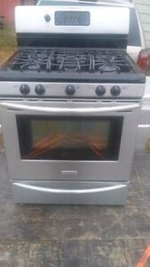 Gas stove 32 inch stainless steel