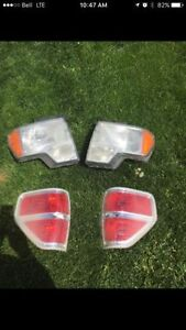 09-14 ford f150 headlights and tail lights $300 obo