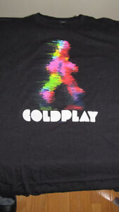 "Coldplay ""Mylo Xyloto"" promo T-Shirt (large) - never used - $5"