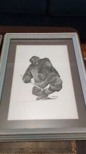 Reduced! 2 Inuit prints by Hilda Lavoie - 60$ each.