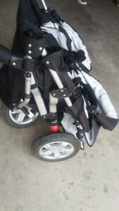 Tike Tech City X3 Swivel DOUBLE STROLLER Kitchener / Waterloo Kitchener Area image 4