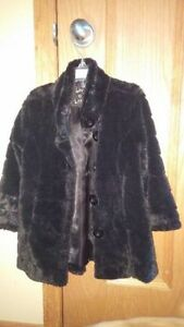 Size 4/5 Liv a Little brand Black Faux Coat