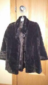 Size 4/5 Liv a Little brand Black Faux Coat Edmonton Edmonton Area image 2