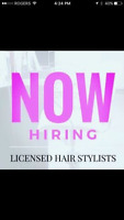 now hiring licenced hairstylist