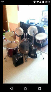 kit de drum avec guitar