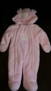Pink Bunny Fleece Suit { 6mths }