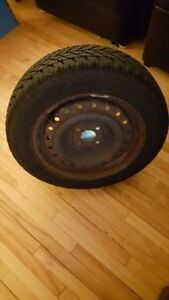 195/55R15 Goodyear UltraGrip Winter Tires 85T With Rims