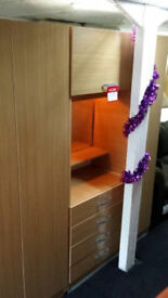 Clearance 3 section factory made vanity wardrobe + mirror
