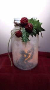 ON SALE NOW REINDEER FROSTED CANDLE HAND CRAFTED JAR Cambridge Kitchener Area image 5