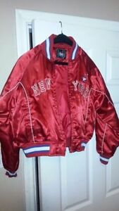 ► SMALL Red Satin NEW YORK Jacket but ETHOS