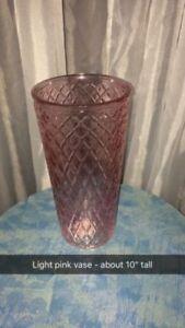 Light pink vase