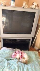 """36"""" JVC TV and stand"""