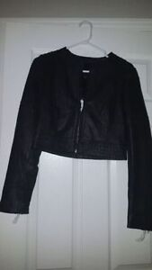 New with tag GUESS Leather Moto Jacket - black - size small