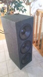 Rockford subwoofers, Rockford Amp and power cap like new
