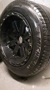 A very good  Rim and Tires set of four