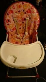 High chair for sale in excellent condition