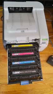 HP Color Laser Printer with network / Almost new