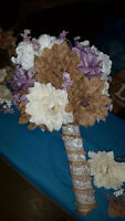 Rustic Wedding decor Bouquets and flowers