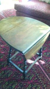 Small Drop Leaf Table with Spindle Legs