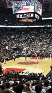 Raptors Season 2018/19 -ALL GAMES--- Section 101 Row 17 + S307