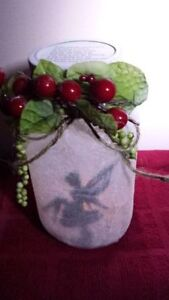 ON SALE NOW REINDEER FROSTED CANDLE HAND CRAFTED JAR Cambridge Kitchener Area image 4