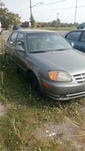 2004 Hyundai Accent GL RUNS AND DRIVES LOW KLMS AS-IS DEAL