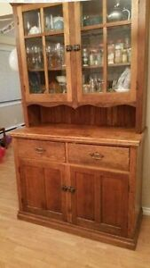 Antique 1800's hutch/china cabinet