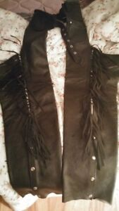 Worn once , xl pr leather chaps.