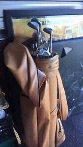TNT right handed golf clubs with bag