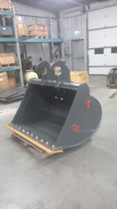 EXCAVATOR CLEANUP BUCKETS - CANADIAN BUILT - ALL SIZES