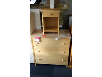 Good quality John lewis pine chest & bedside cabinet