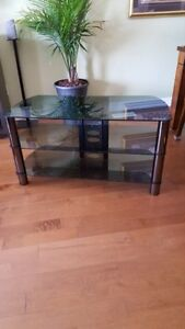 3 tier glass TV stand