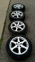 4 - 17inch Rims with Tires - 5x114 Great Condition