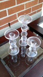 glass candleholders West Island Greater Montréal image 1