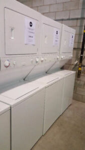 "7"" ELECTRICAL STACKABLE WASHER DRYER 27' GAS STACKABLE $699.00"