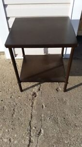 Metal Espresso nightstand or end table