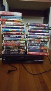 for sale toshiba vcr/dvd combo with disney tapes