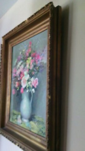 Ornate Antique Frame - Handsome antique gold frame -