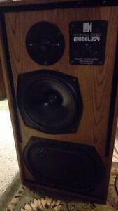 KEF104ab studio monitors