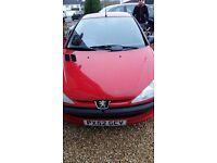 Peugeot 206 for sale spare or repair