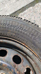 Complete set of four 175-70-14 Goodyear Studded Winter Tires