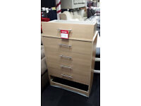 Ex-display clearance factory made 5 drawer chest