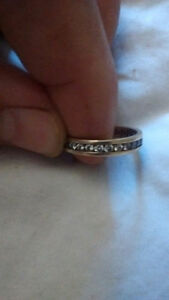 14 k Gold .95 CT Diamond Eternity Band .( with appraisal )