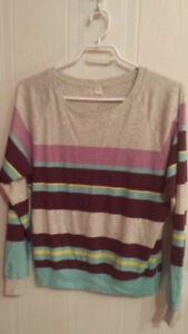 TNA Long Sleeve Shirt- Multicolour- $5-size XS