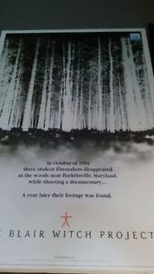 Blair Witch Project poster for your home theater! Only $17 Kitchener / Waterloo Kitchener Area image 1