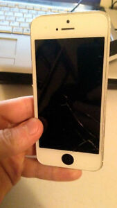 iPhone 5 with cracked screen. Need gone today.